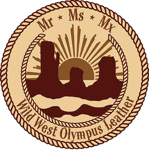 wild west olympus leather logo